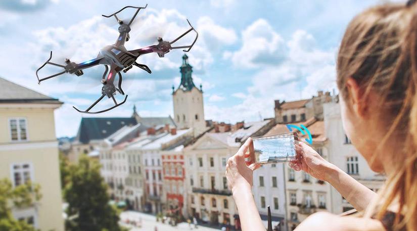 snaptain s5c test du drone