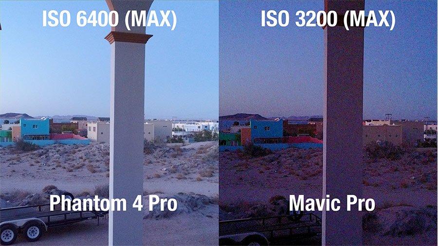 Phantom 4 PRO vs-Mavic Pro Low-Light-Test